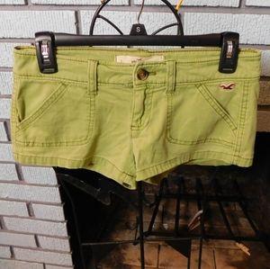 Hollister green shorts